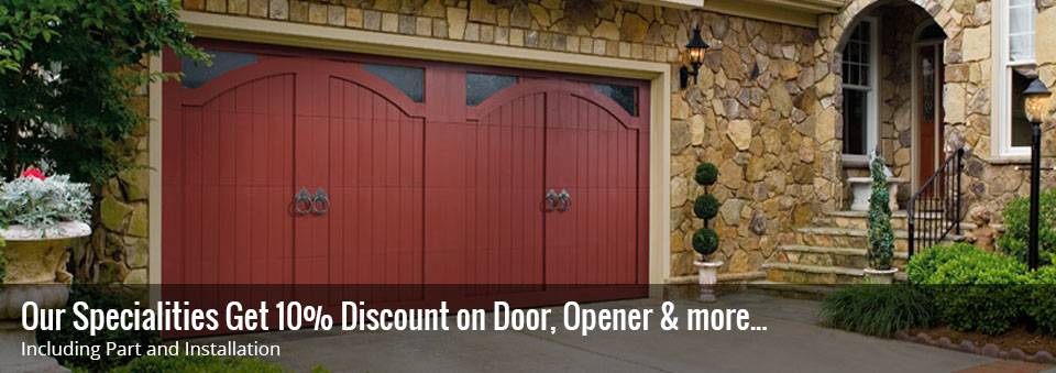 Get 10% discount on Garage Door, Opener & more.